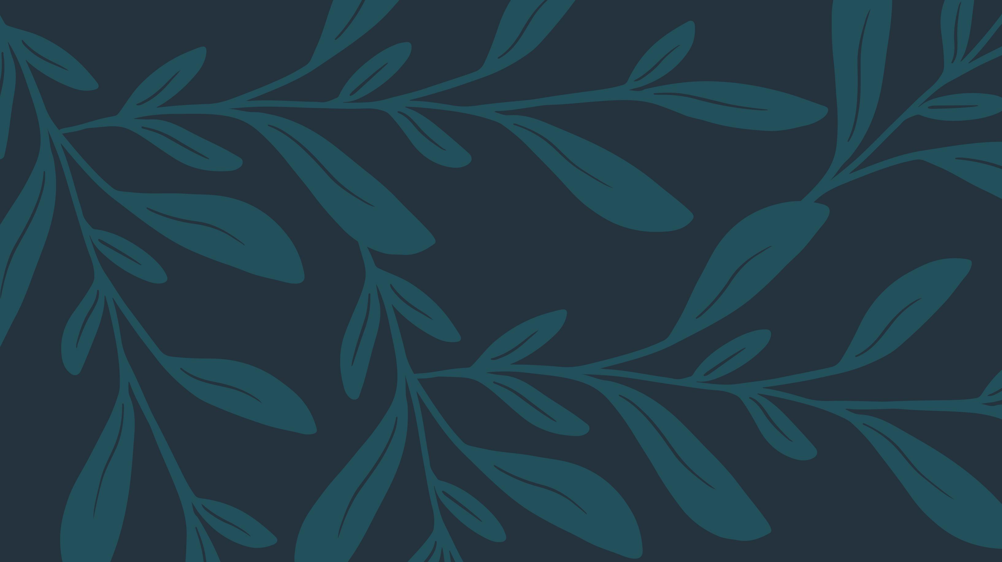 A blue pattern of leafy elements.