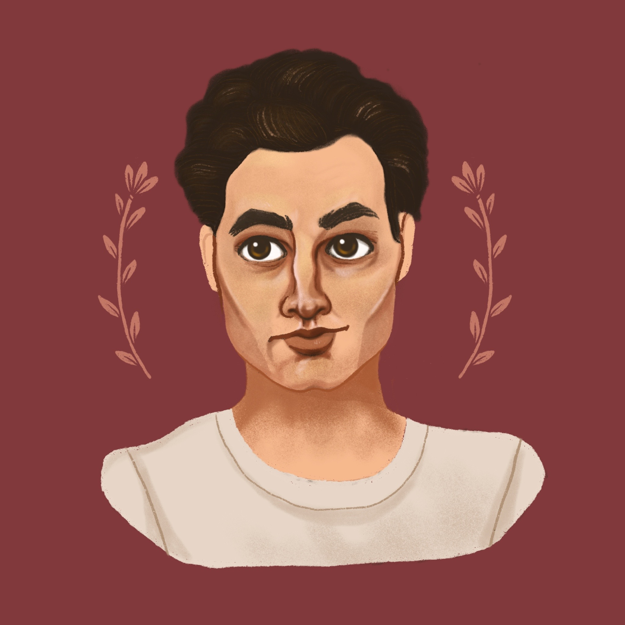An illustration / portrait of Joe Goldberg from You on Netflix.