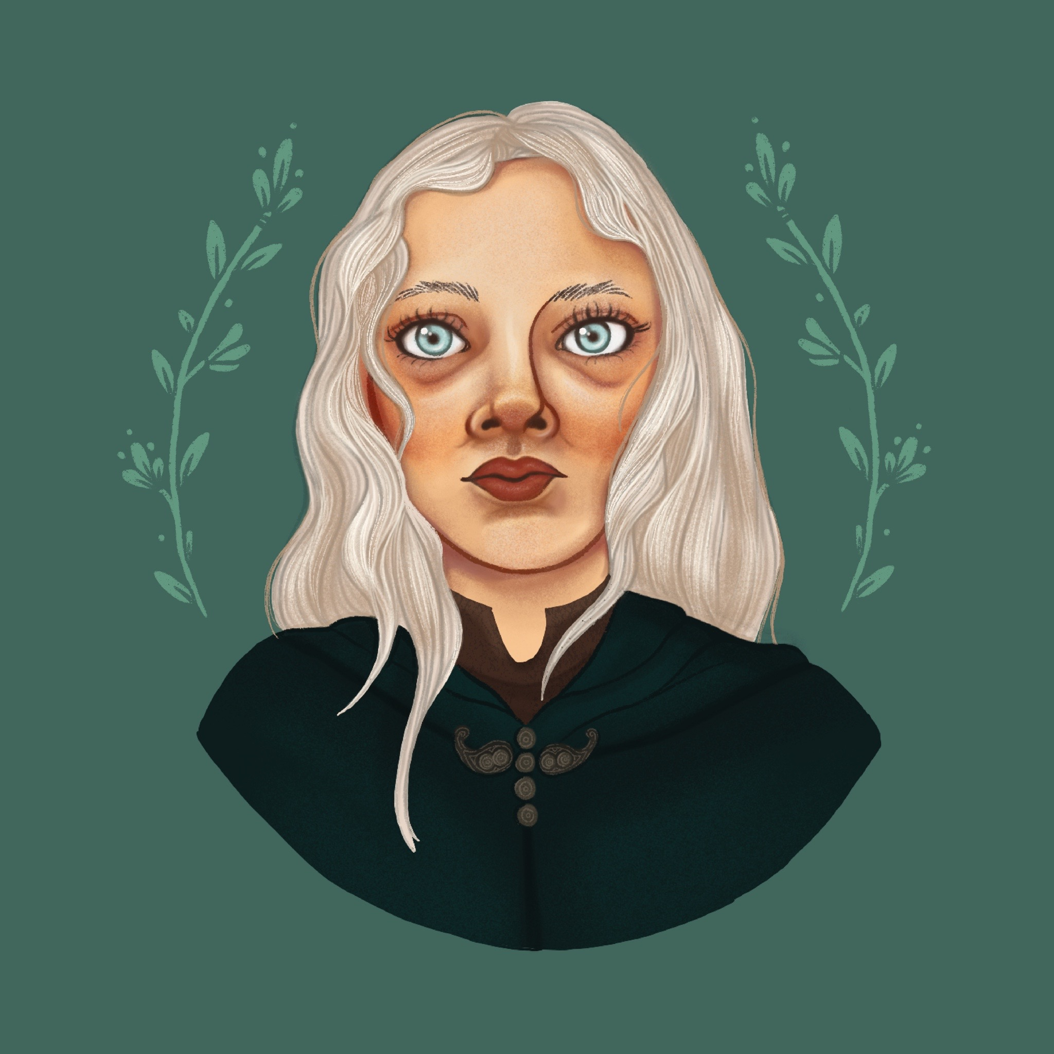 An illustration / portrait of Ciri from The WItcher on Netflix.