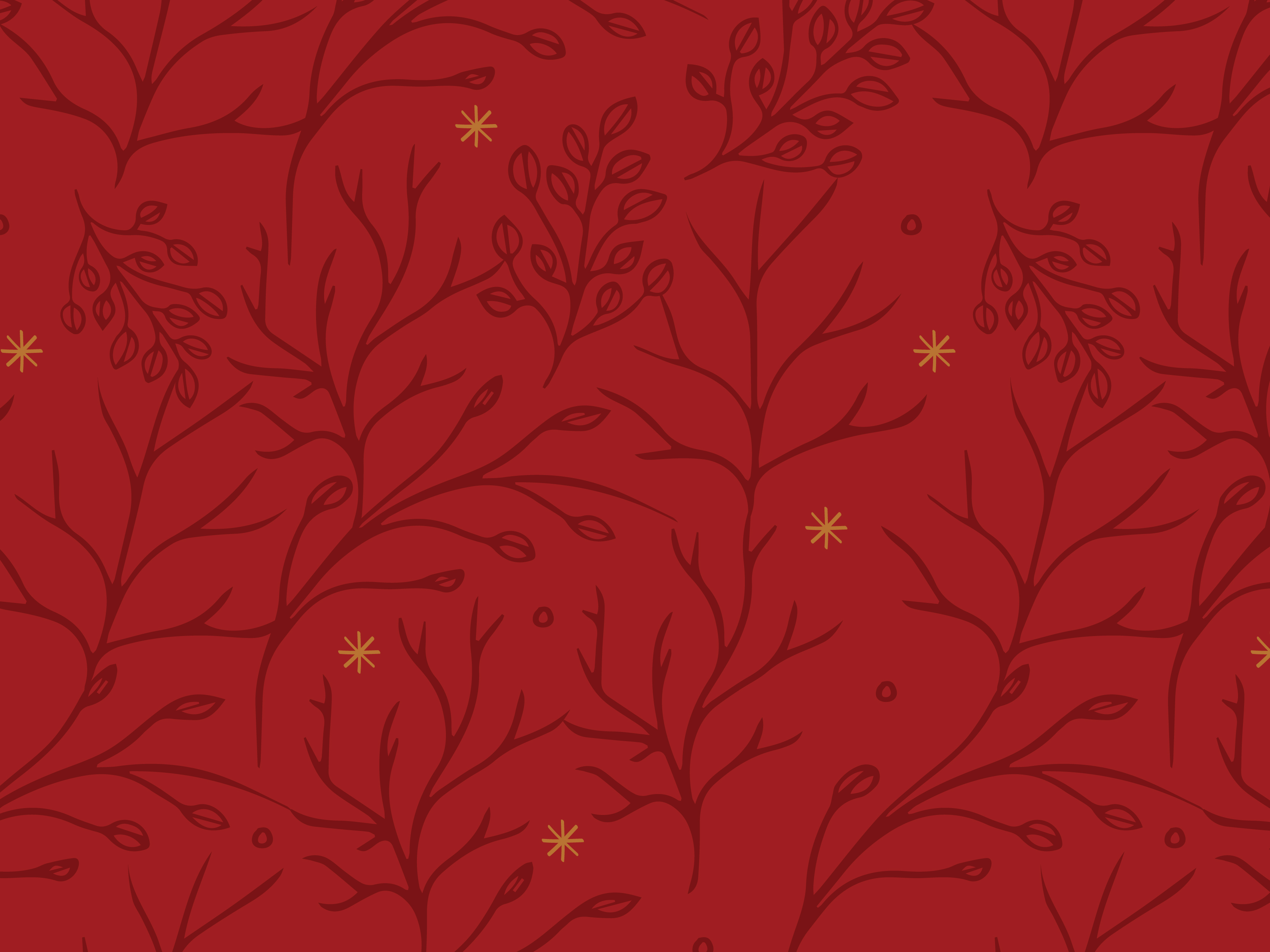 An illustrated holiday pattern created for Brewpoint Coffee.
