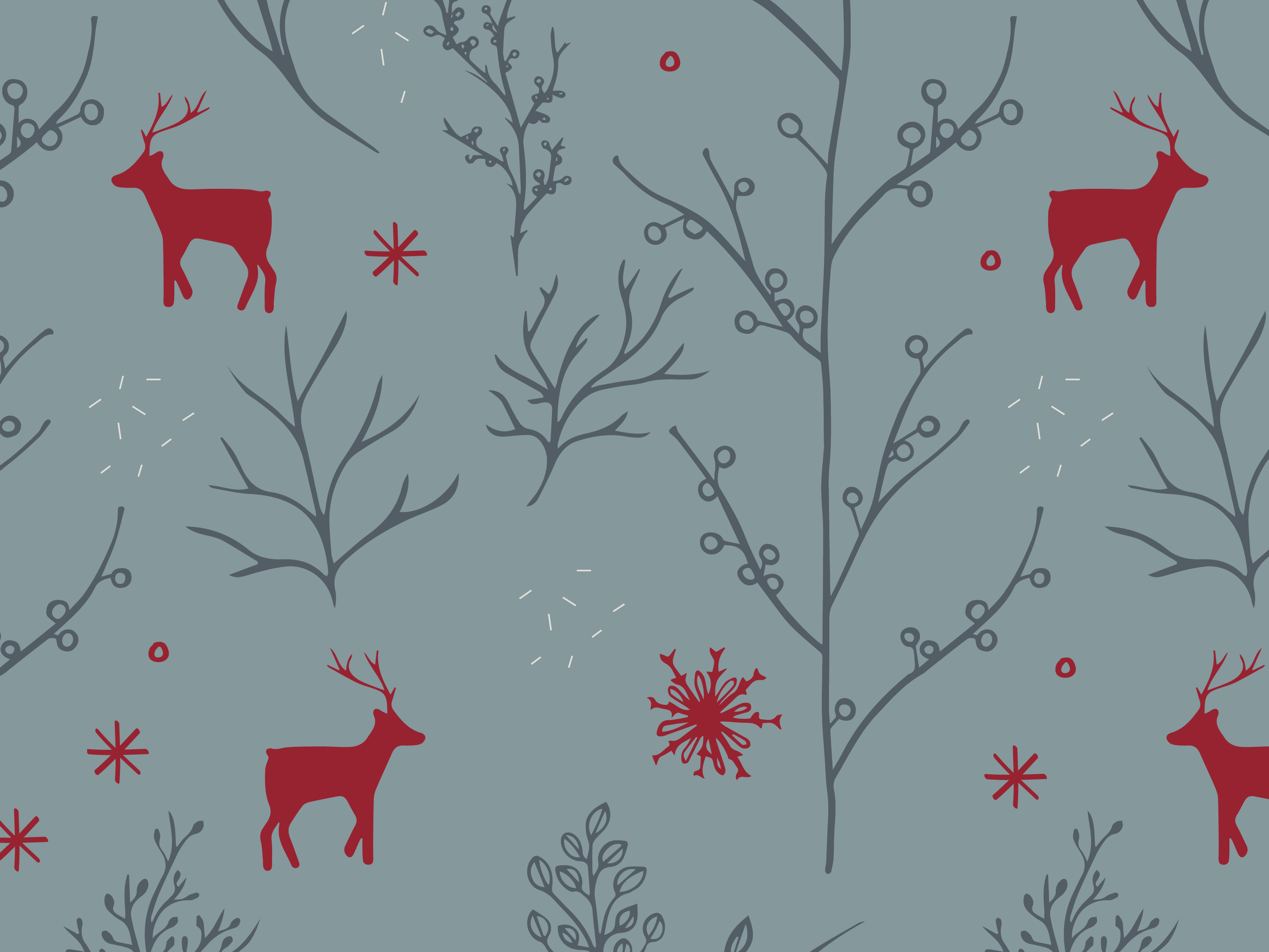 Winter pattern created for Brewpoint Coffee's Sugar Plum Dancer holiday blend.