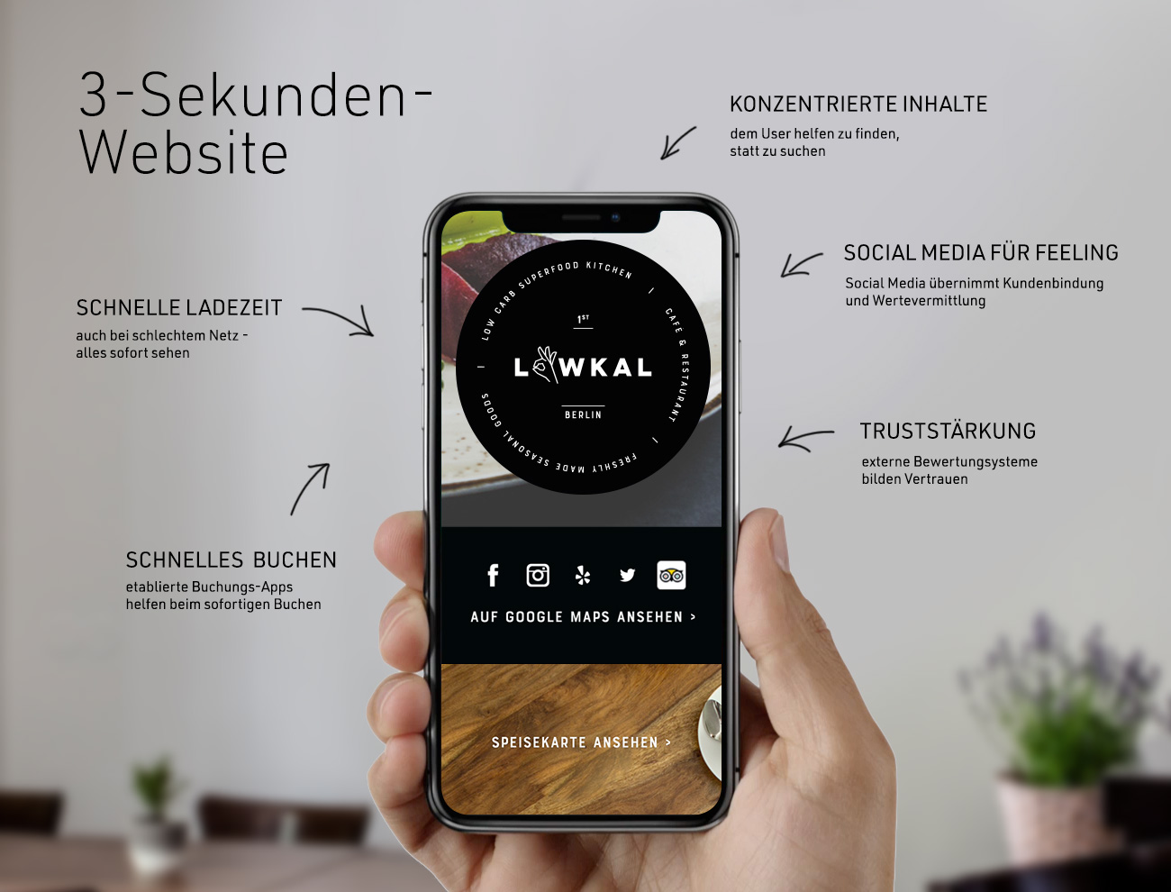 gute Restaurant-Branding Website