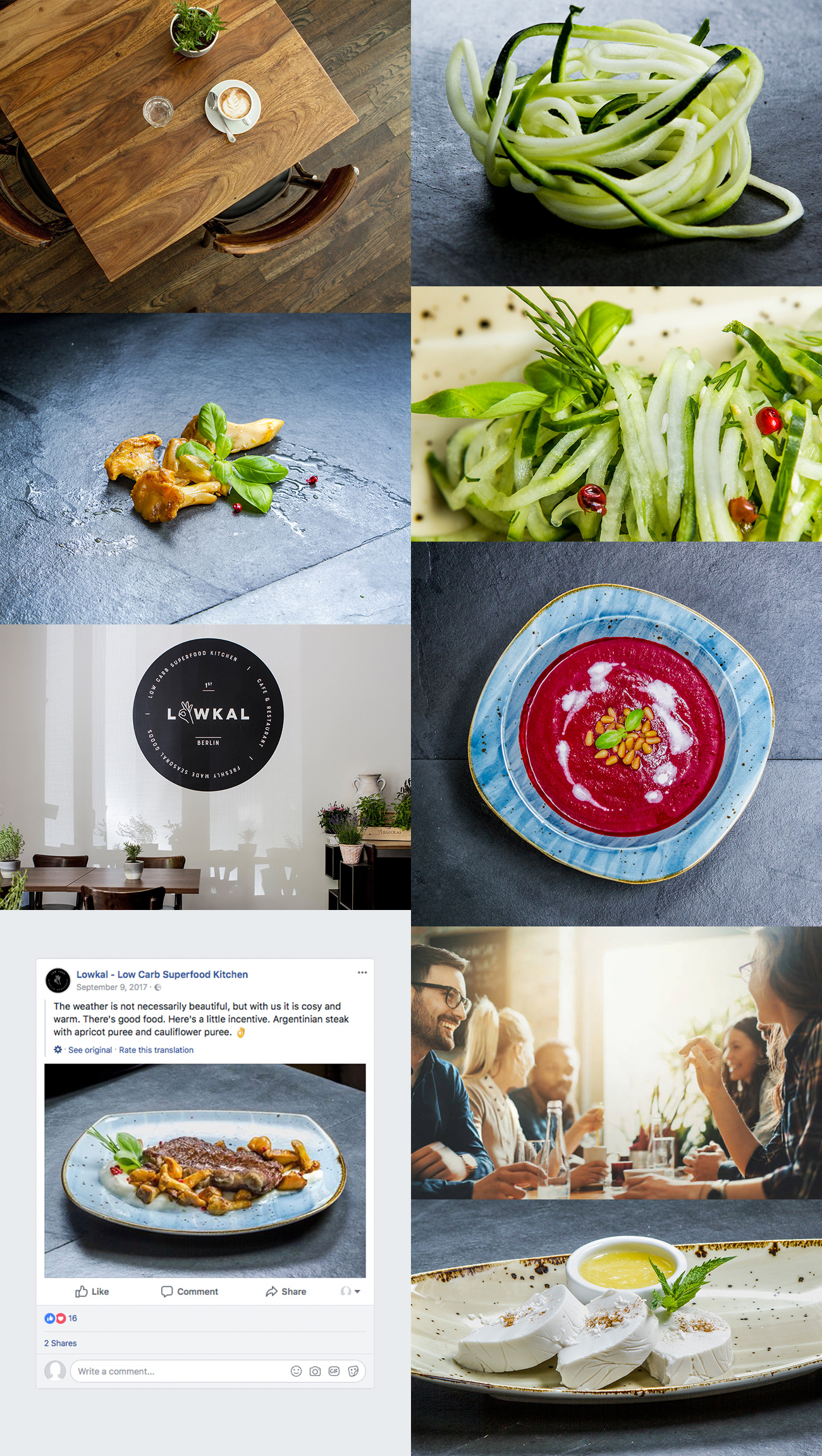 Low Carb Restaurant-Branding Food-Fotografie