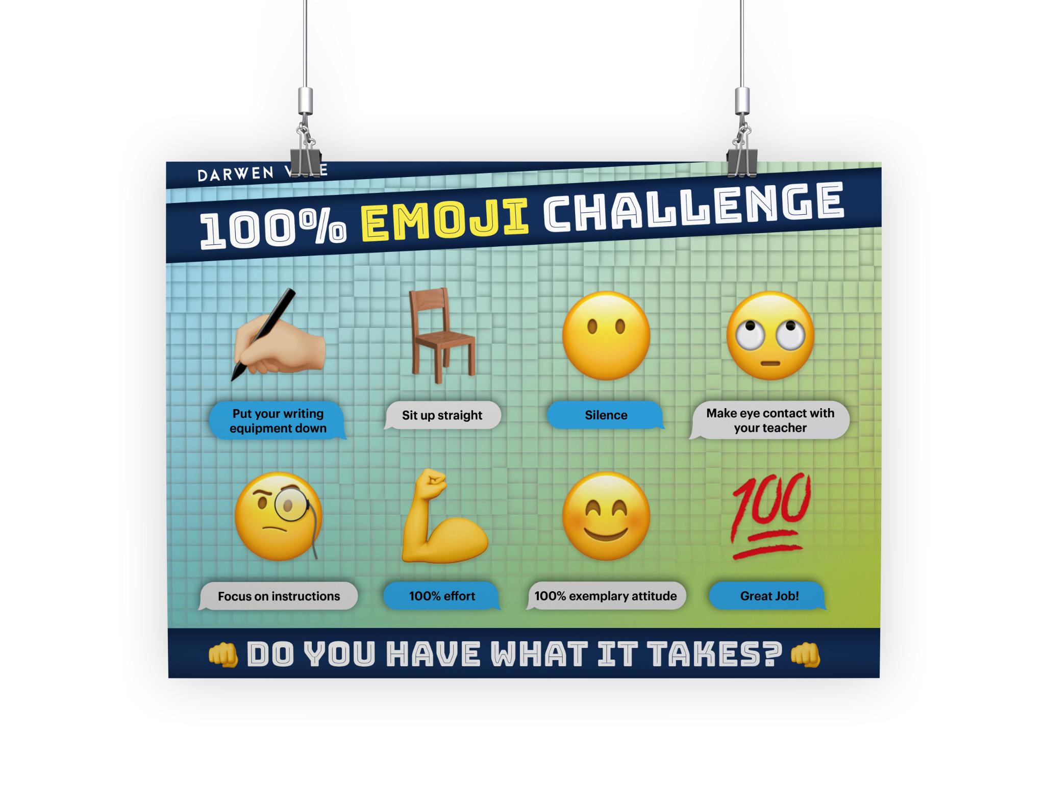 100% Emoji Challenge Poster