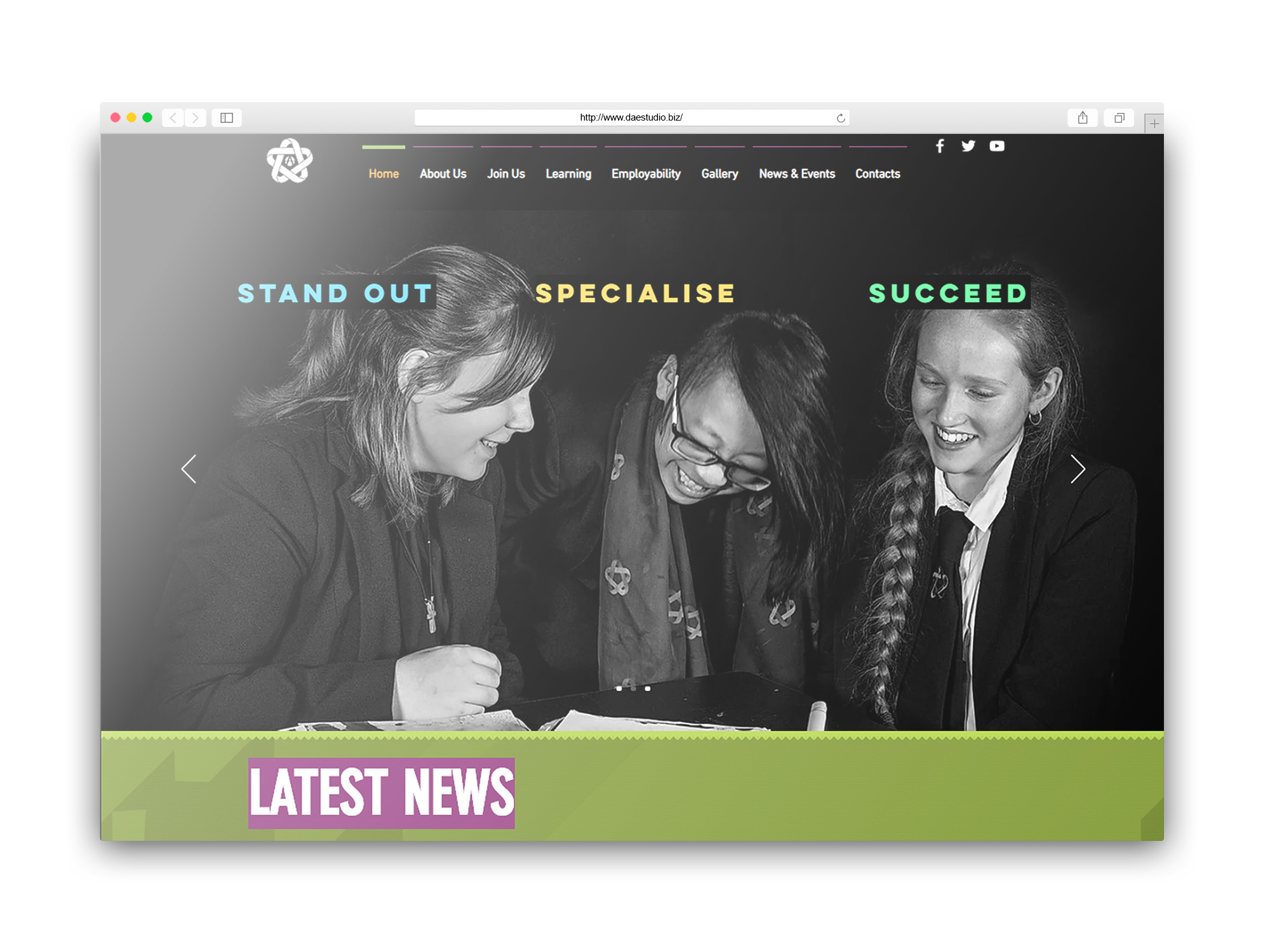 DAES Studio School Website