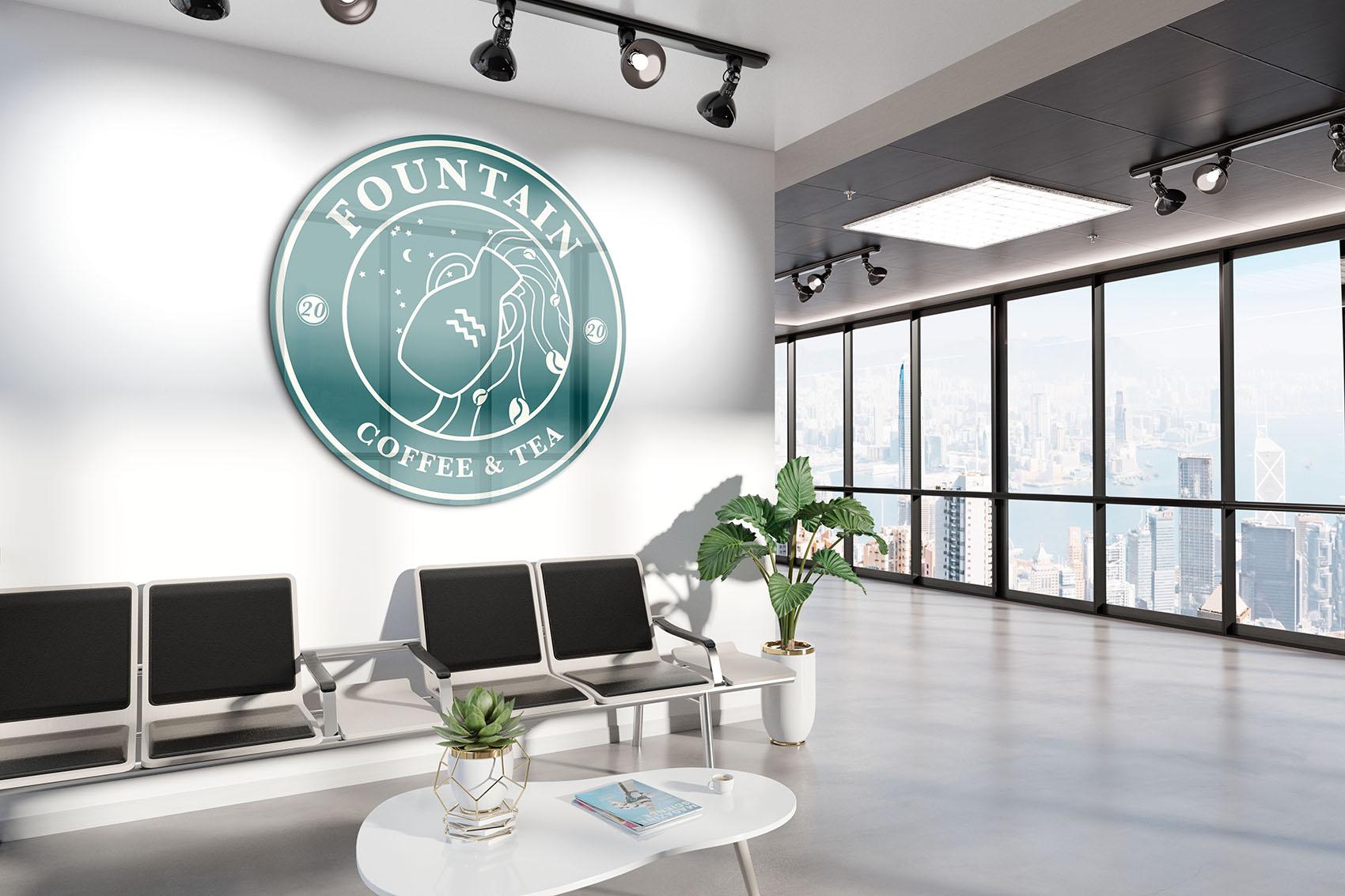 Sample office wall logo