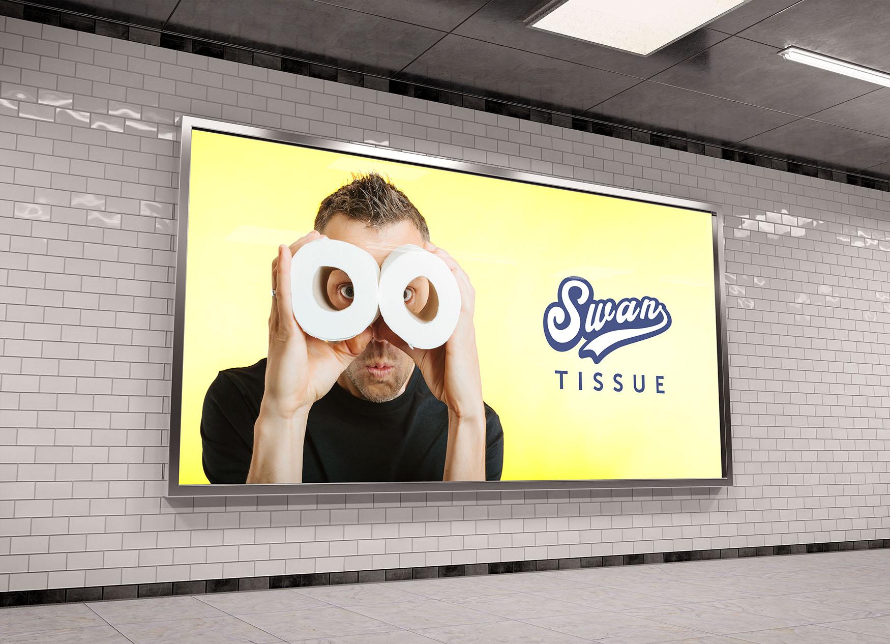 Sample underground billboard advert