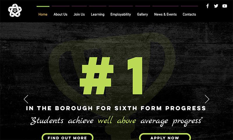 Screenshot of DAES Studio School Website