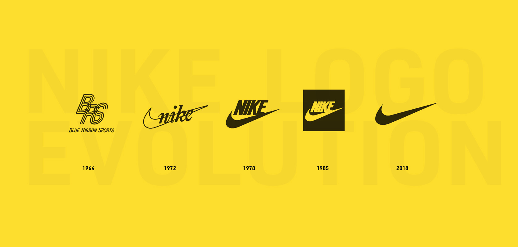 $35 Nike Logo Evolution