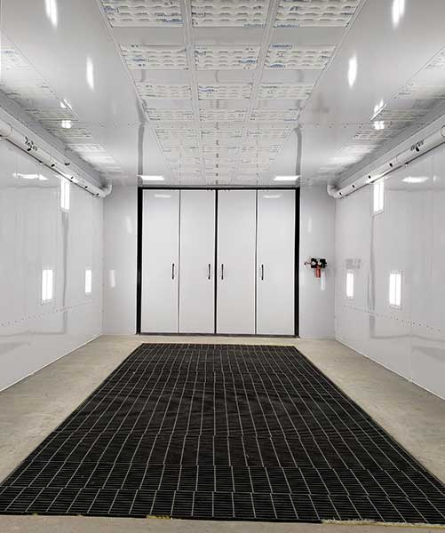 One of Newell's paint booths