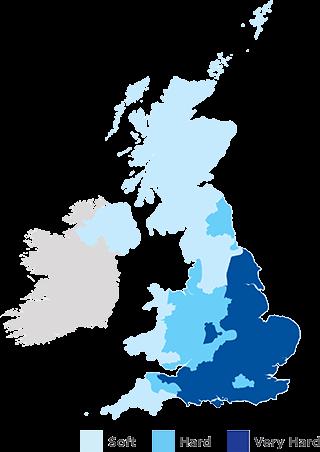 Hard water map of UK