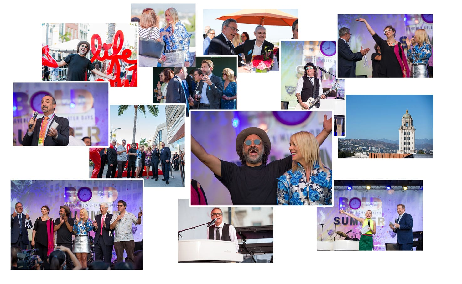 Collage of images of a tourism event