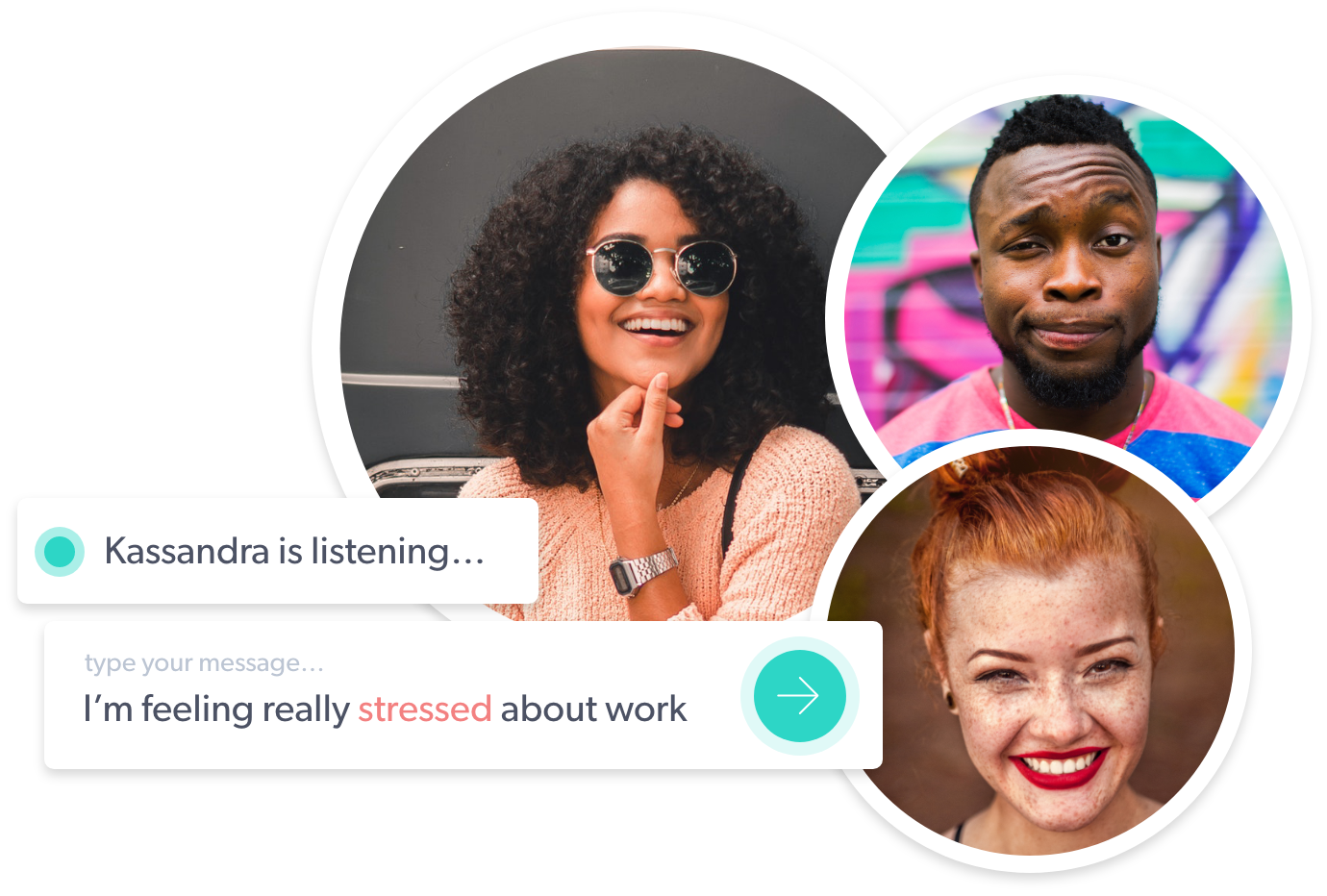 A Diverse group of Listeners here for you and your mental health needs