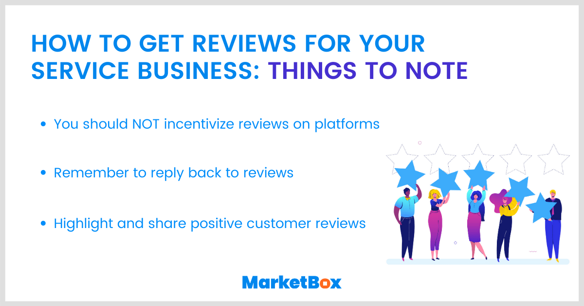 How to get reviews for your service business: things to note