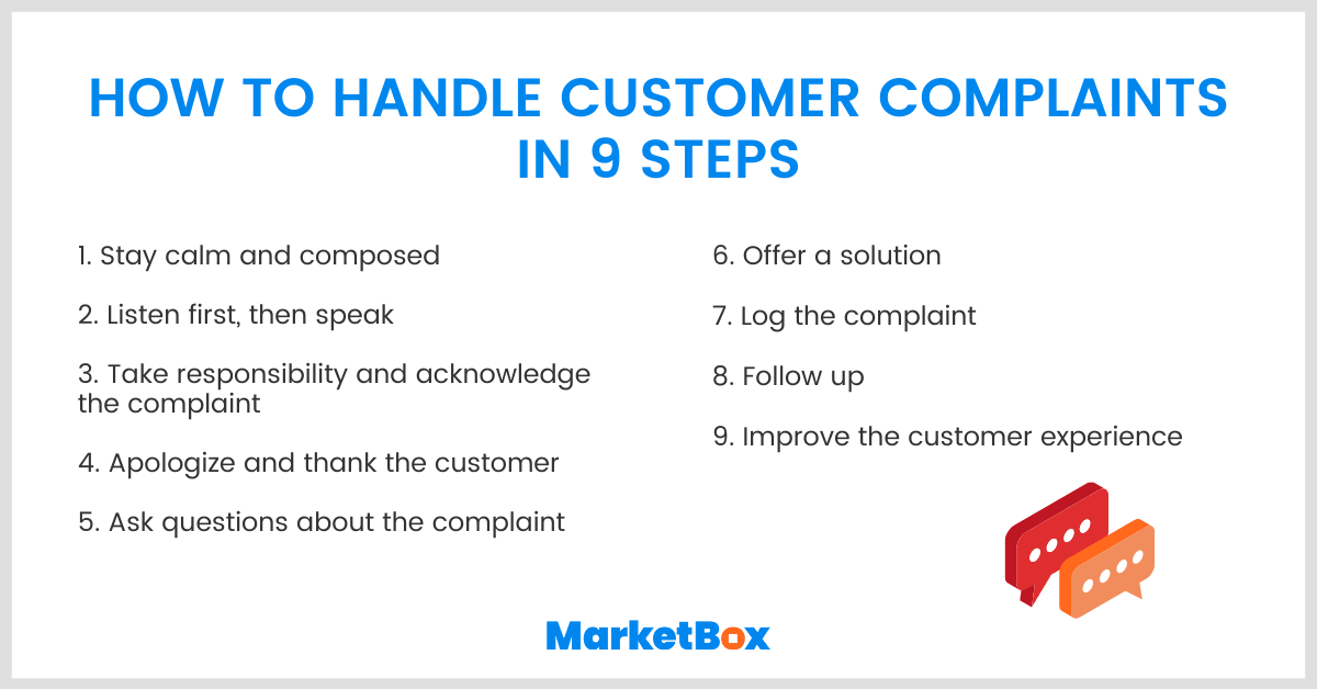 How to handle customer complaints in nine steps