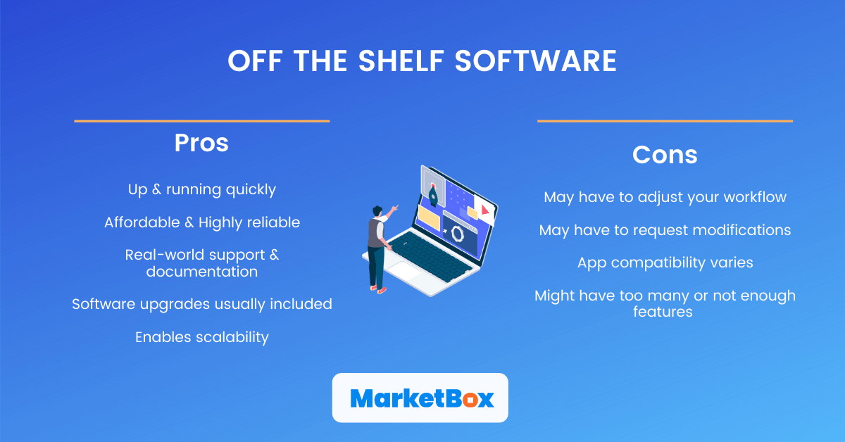 Pros and cons of off the shelf software