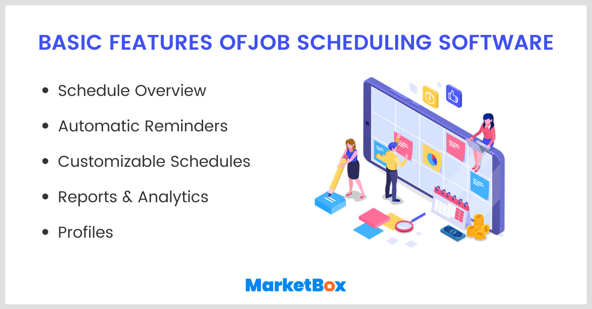 Basic features of job scheduling software