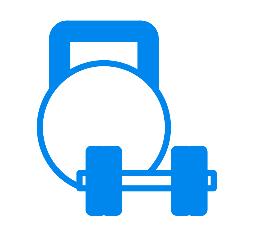 kettle bell and weight graphic