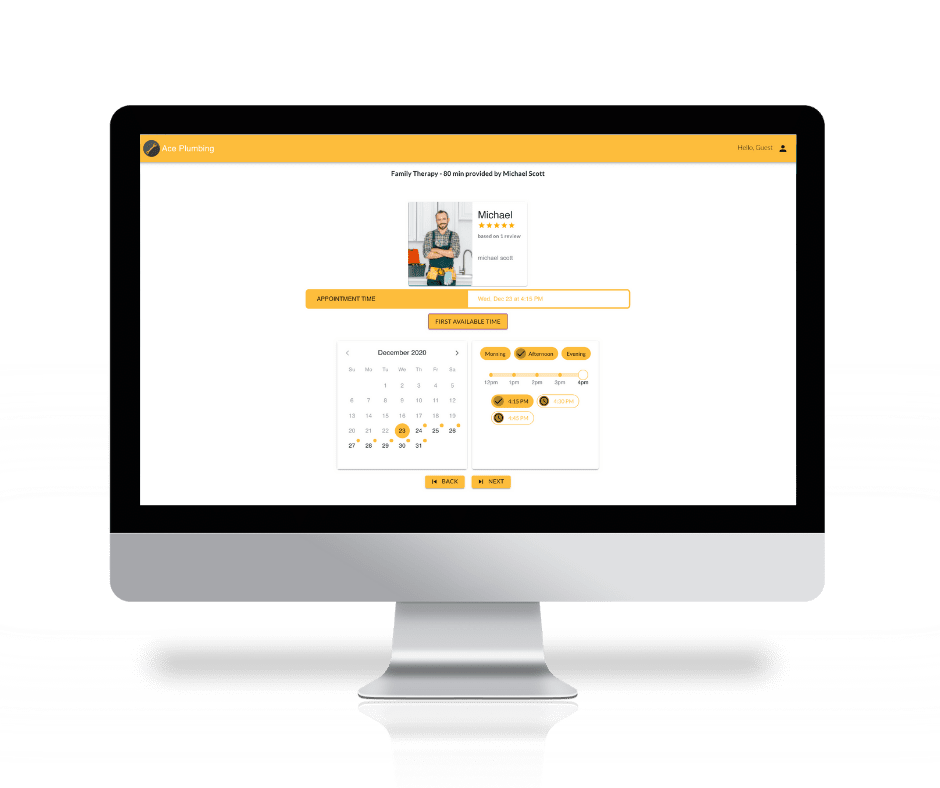 Capture bookings with the MarketBox sales and scheduling software