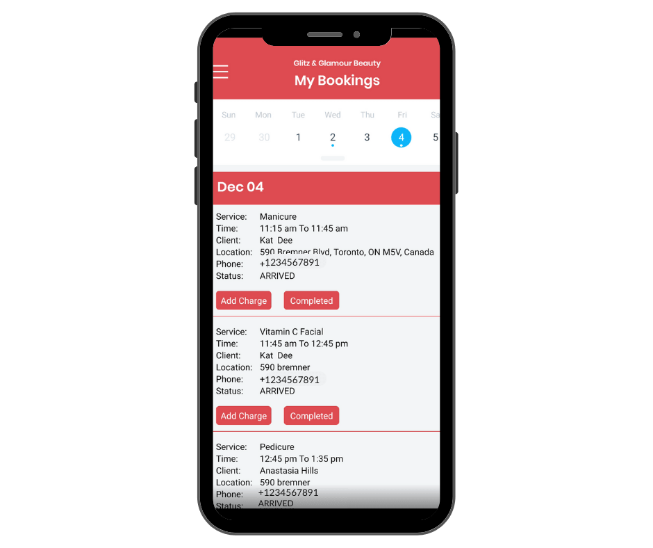 Use the MarketBox provider mobile app to access bookings on-the-go