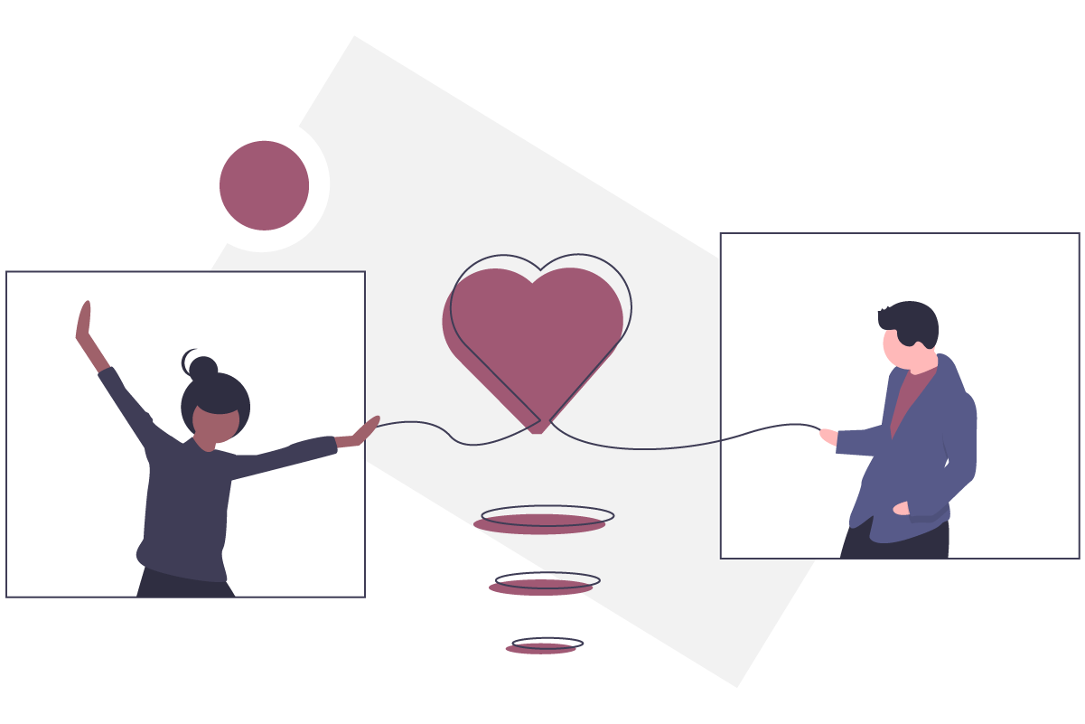 illustration of people and heart