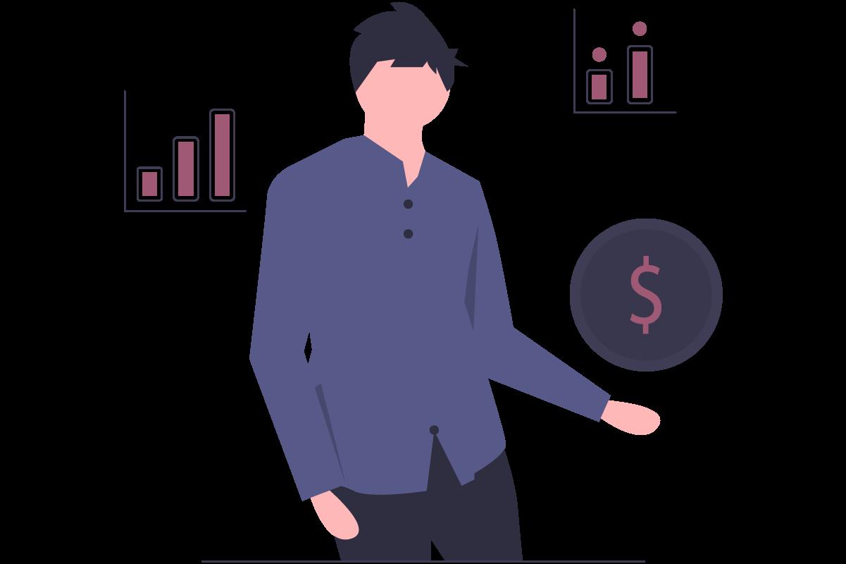 illustration of positive financials