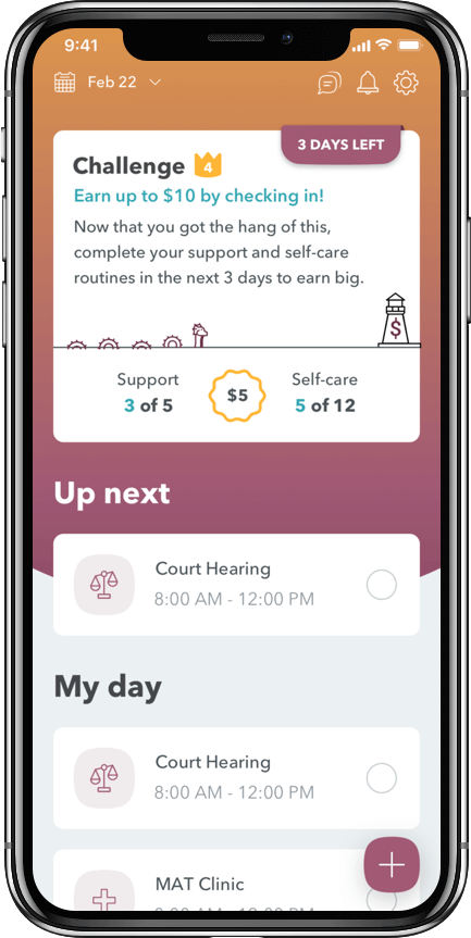 WEconnect app earn money by sticking to your recovery plan
