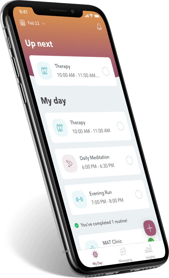WEconnect app, incentivize SUD recovery plan adherence