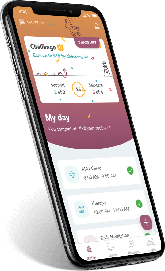 WEconnect app. you completed all of your routines celebration