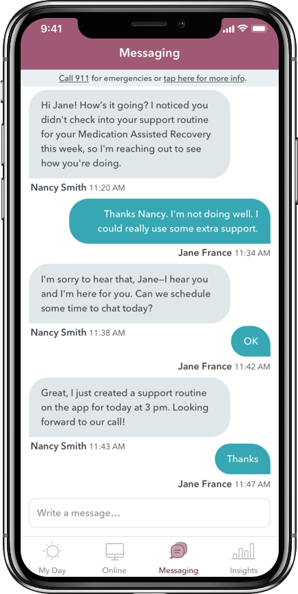 WEconnect app, HIPAA-compliant messaging in your hand