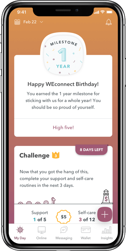 WEconnect 1 year milestone screenshot