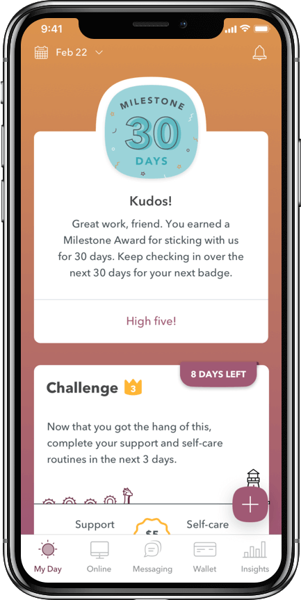 WEconnect app 30 day milestone, you just earned $50