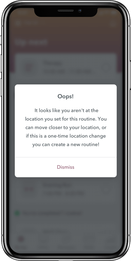 WEconnect app, location error message