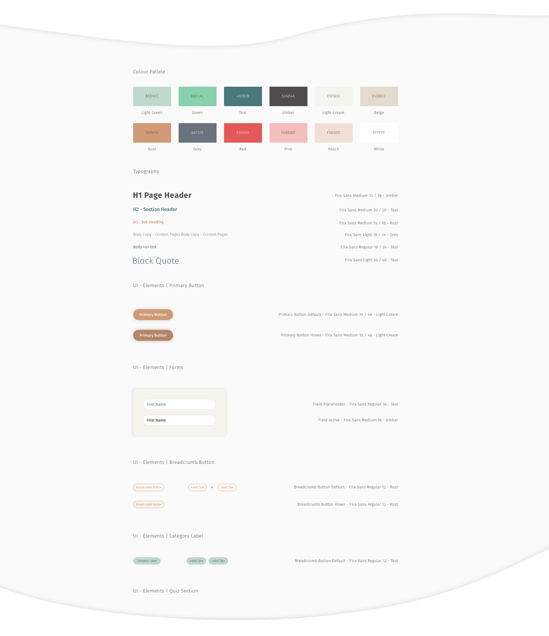 Speakout toolkit user interface style guide
