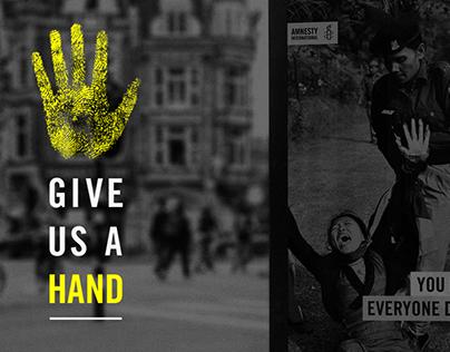 give us a hand kiosk