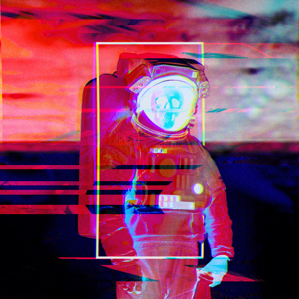 glitchy astronaut