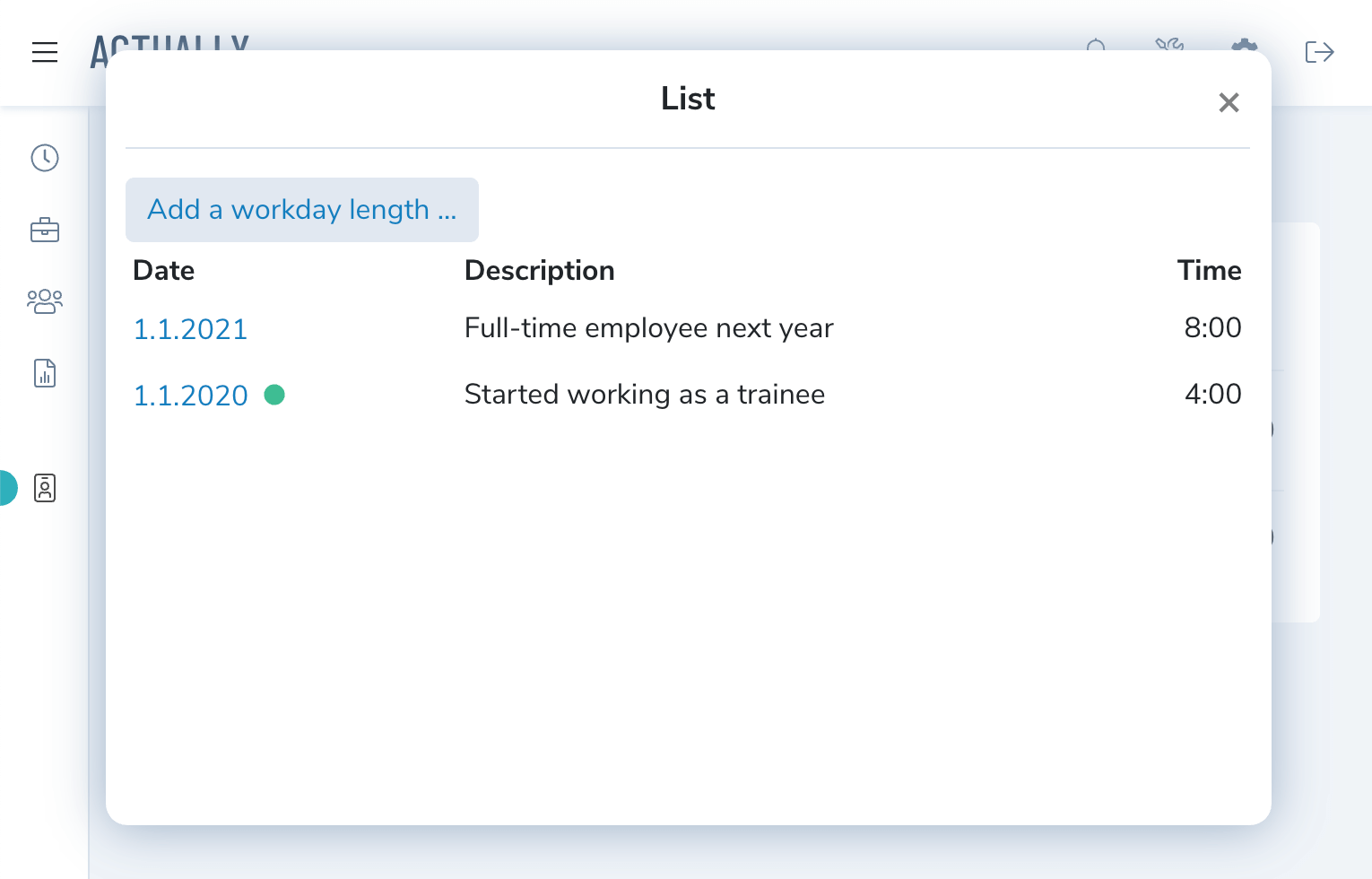 Change timesheet daily capacity with workday lengths