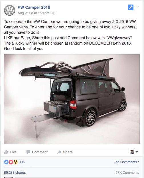 Facebook Hoax VW Camper 2016
