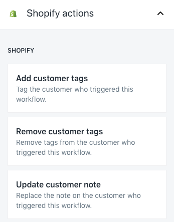 Shopify Flow customer and order actions