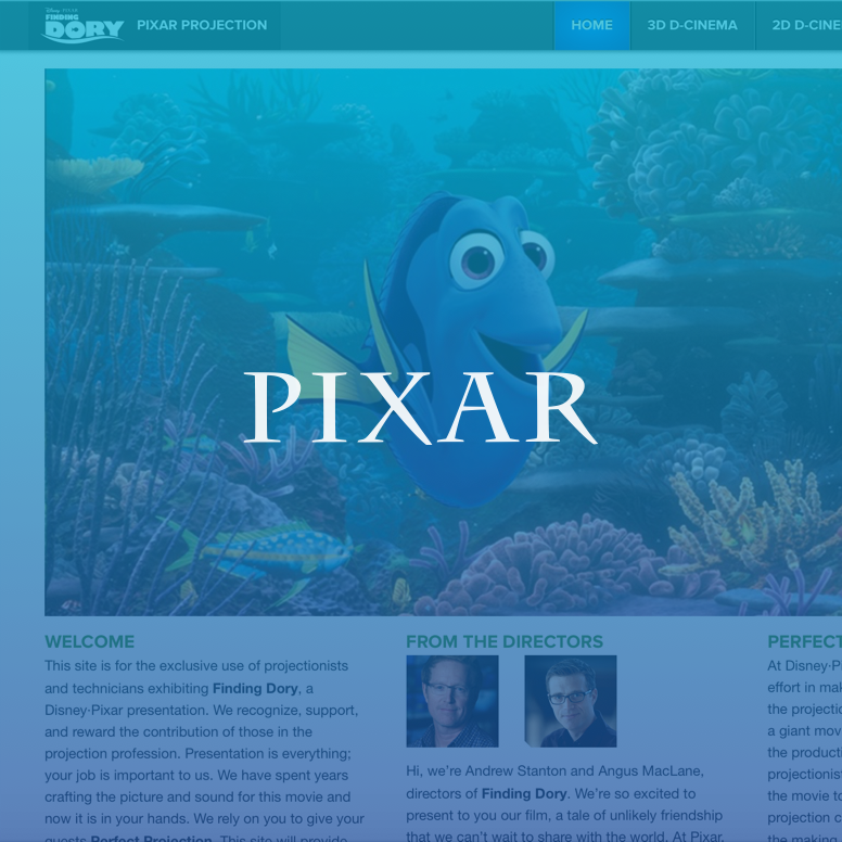 Pixar Projection