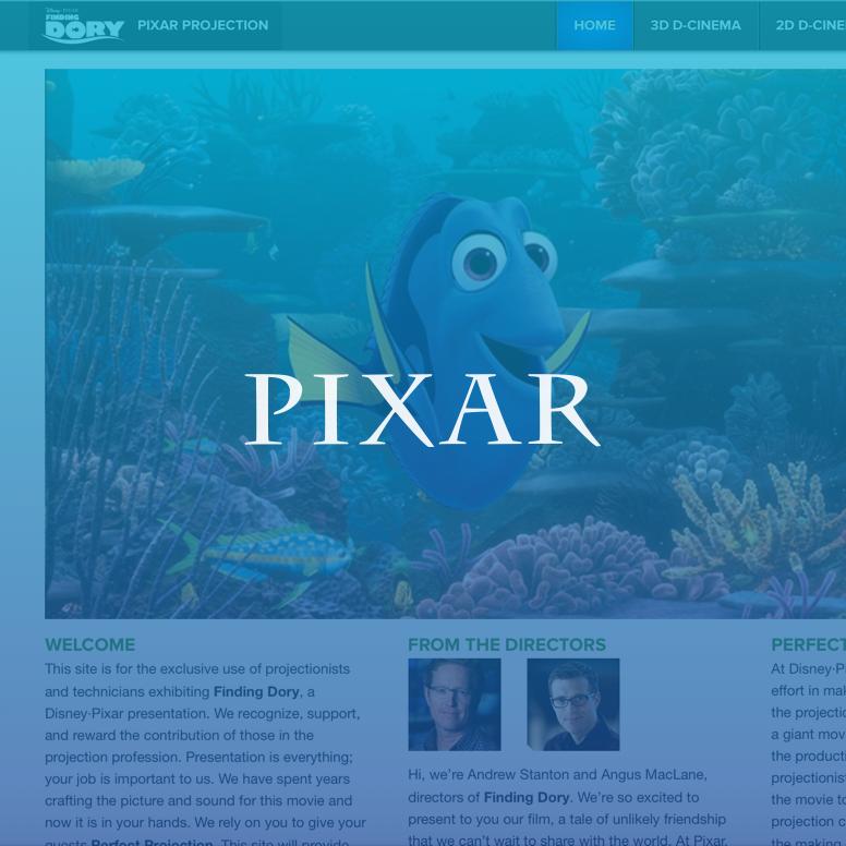 Pixar Projection