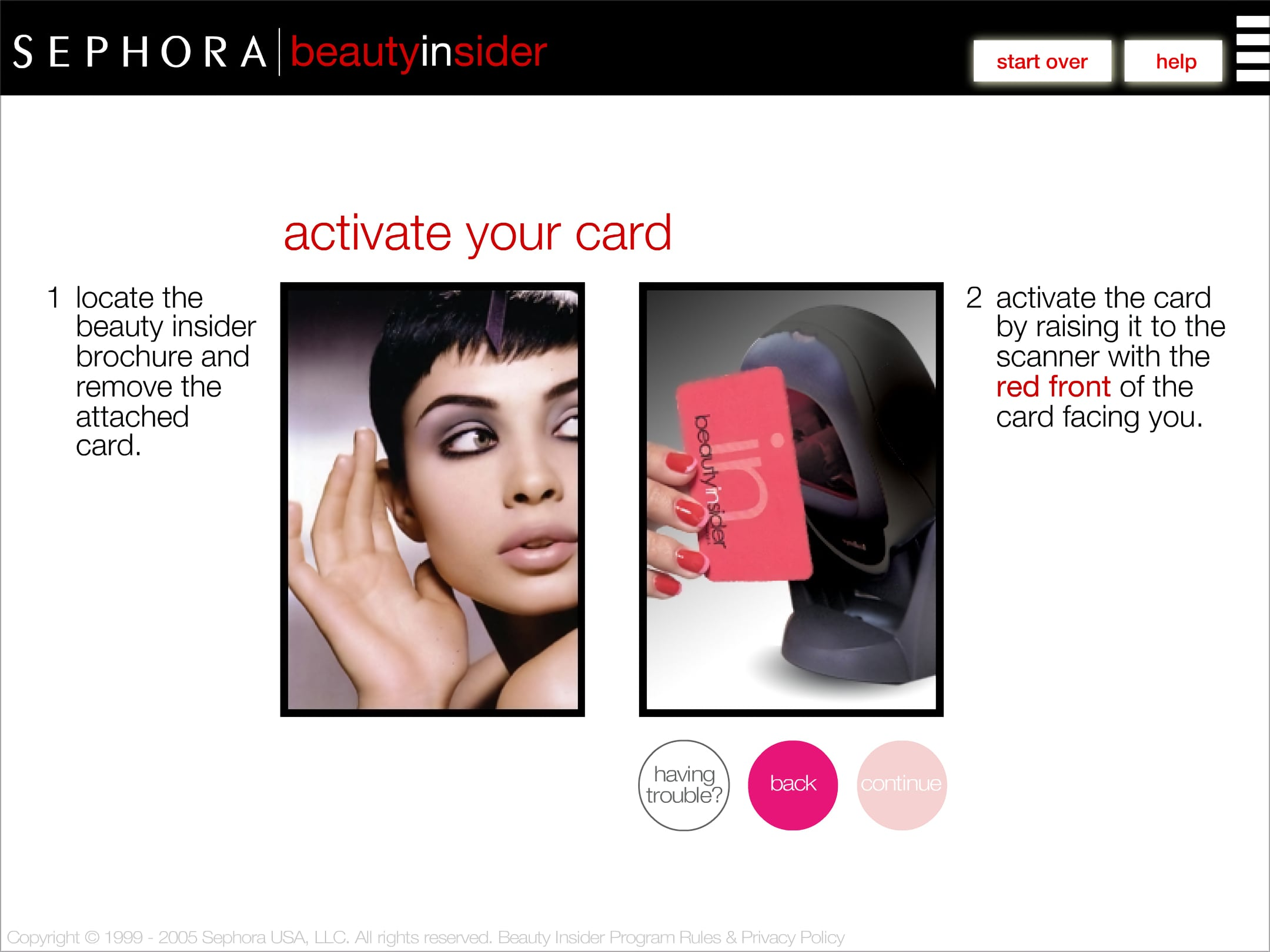 Sephora BI card activation