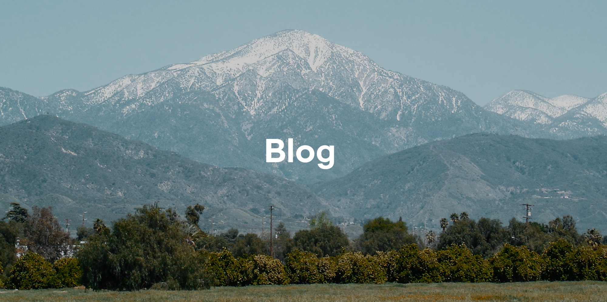 Mountain range title picture entitled Blog