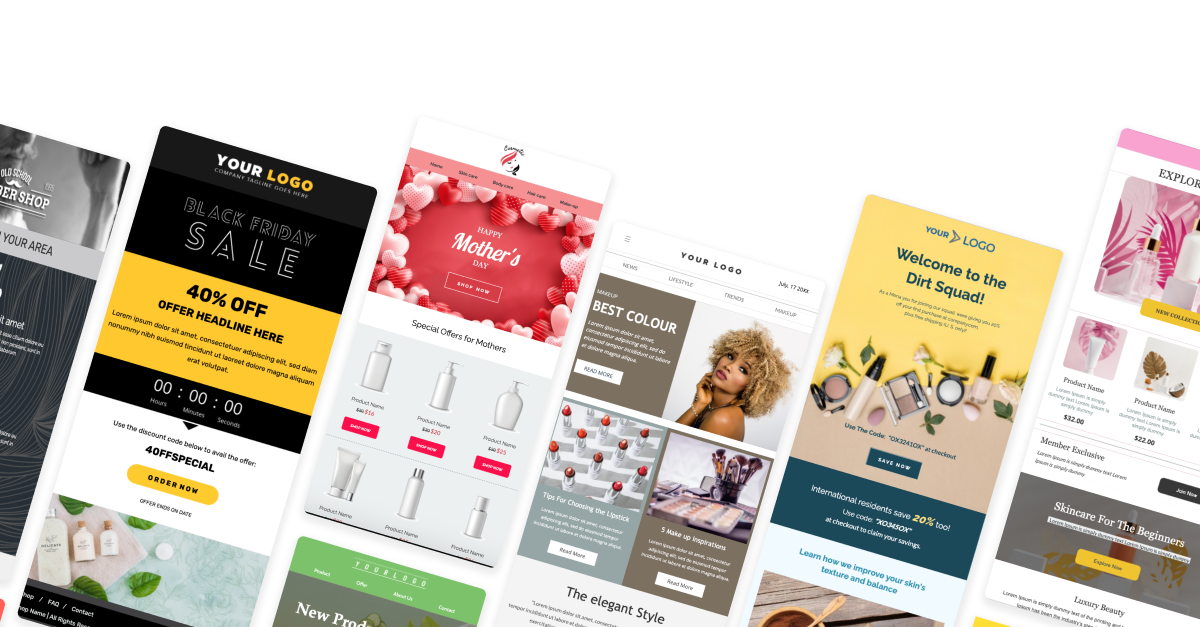 Free Email Templates for Beauty & Personal Care