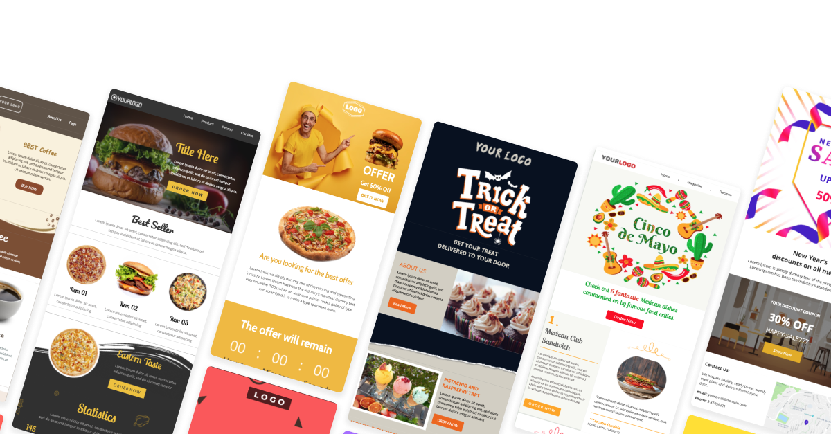 Free Email Templates for Food & Beverage