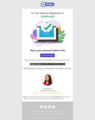 Webinar Confirmation
