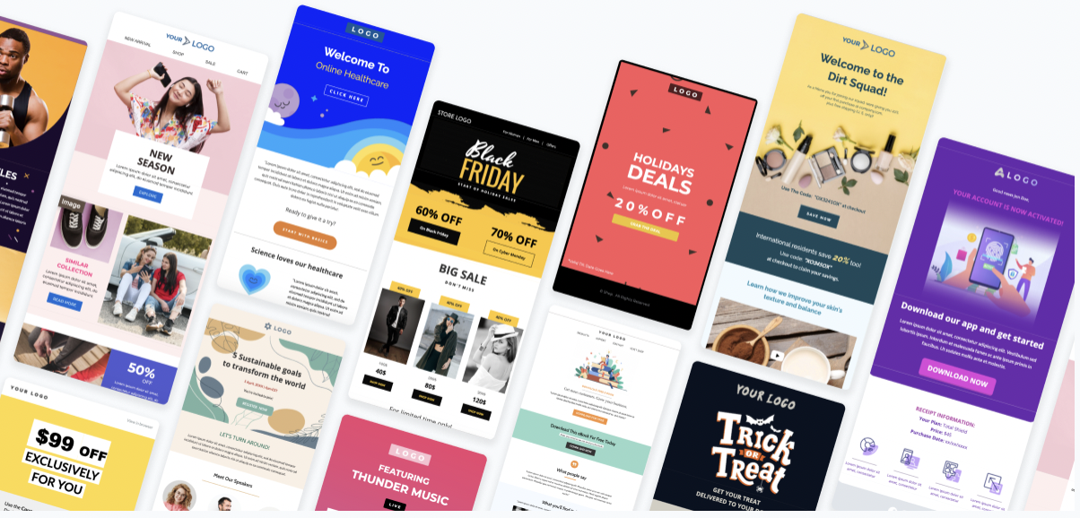 Unlayer email templates