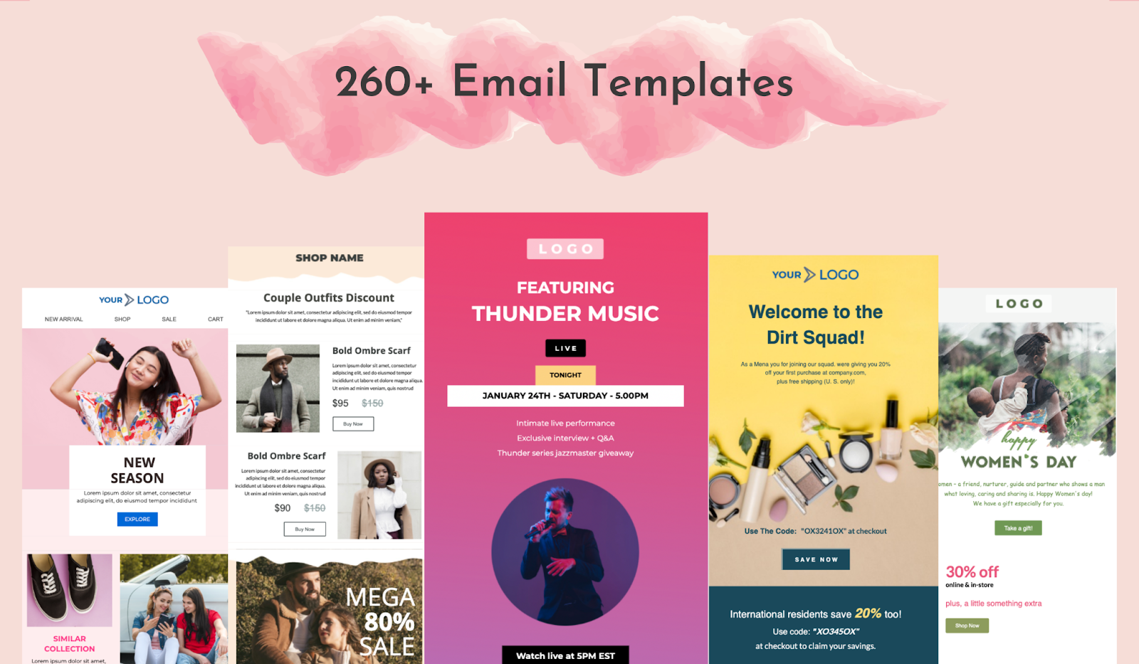 Unlayer email templates library