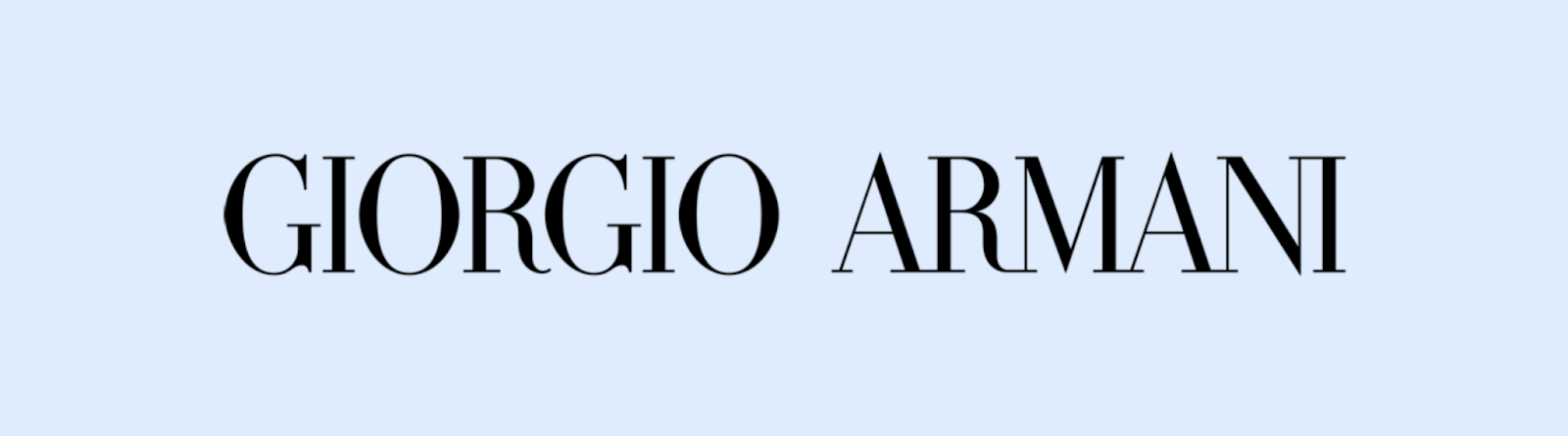 Giorgio Armani Logo family in Serif font