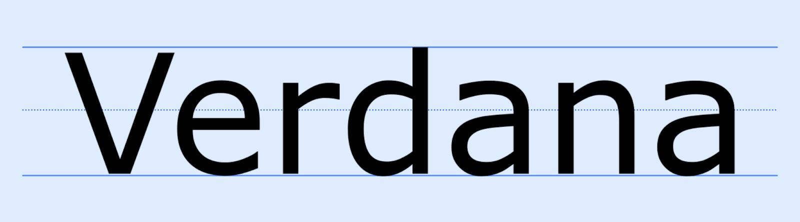 Verdana email design font